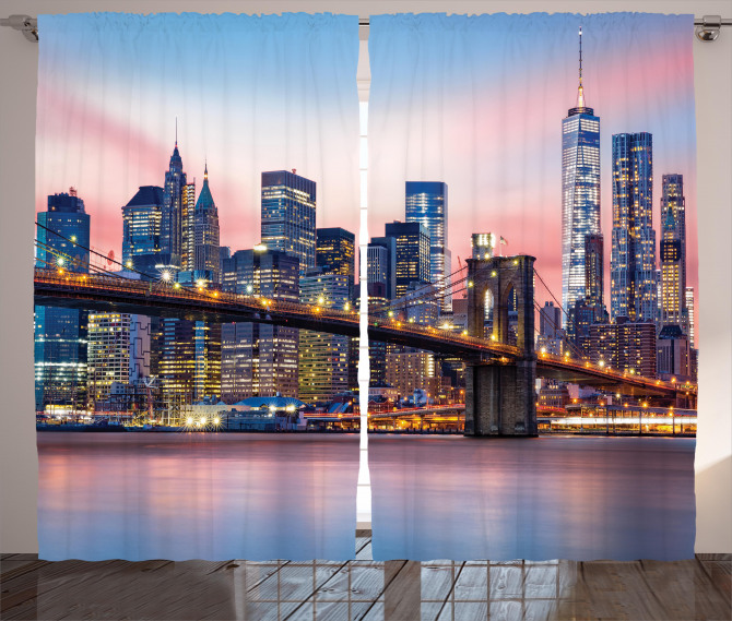 Sunrise in Brooklyn Bridge Curtain