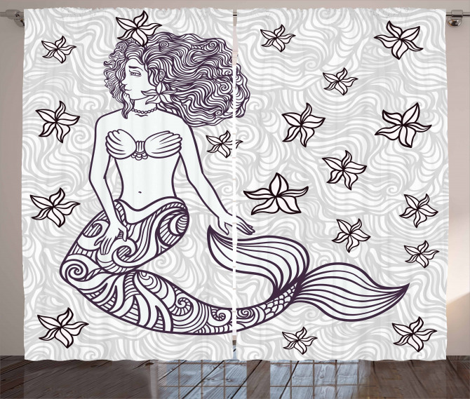 Magical Mermaid with Wave Curtain