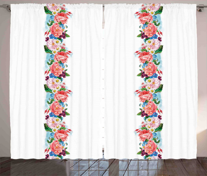 Daisy Wild Nature Garden Curtain