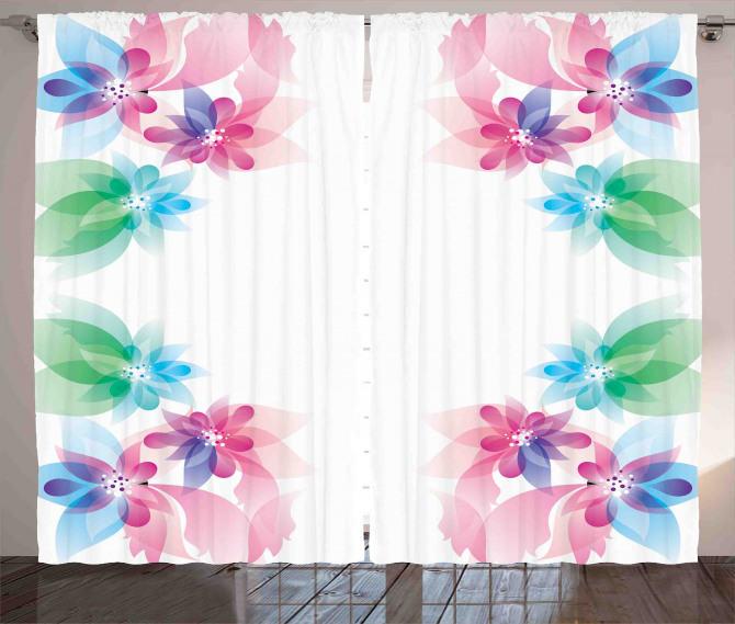 Digital Bridal Flowers Curtain