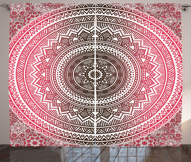 Ombre Zen Ethnic Curtain