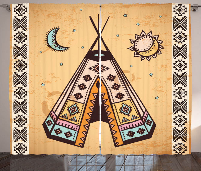 Native Bohemian Signs Curtain