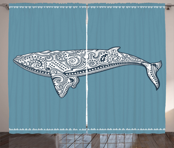Ethnic Embellish Whale Curtain