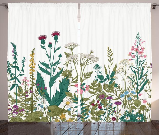 Spring Garden Hydrangeas Curtain