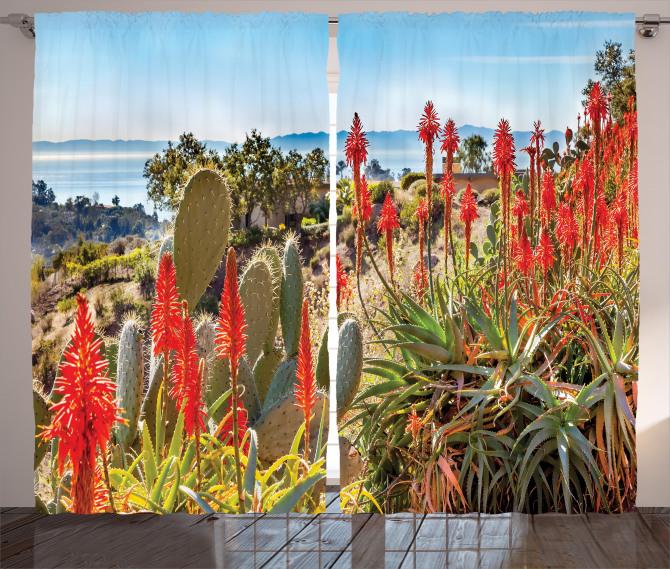 Desert Mountain Photo Curtain