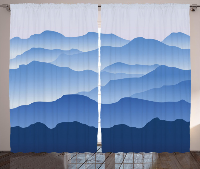 Nature Theme Silhouette Curtain