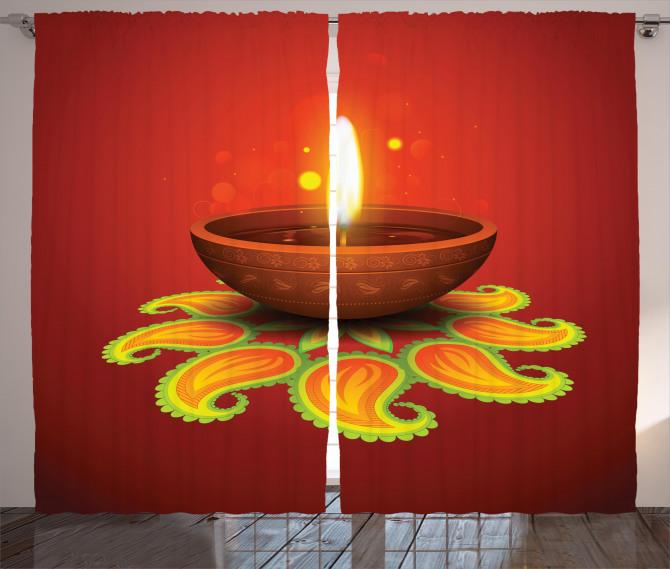 Religious Diwali Curtain