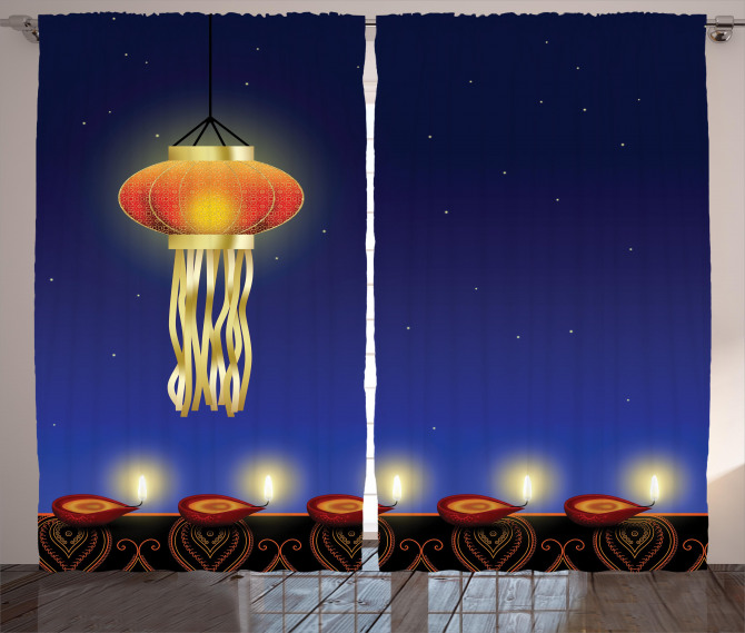 Festive Night Stars Curtain