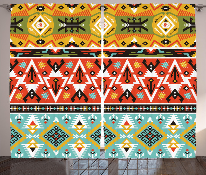 Love and Adventure Aztec Curtain