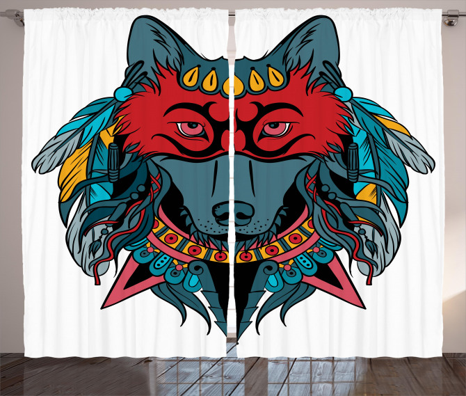 Wolf Animal Theme Curtain