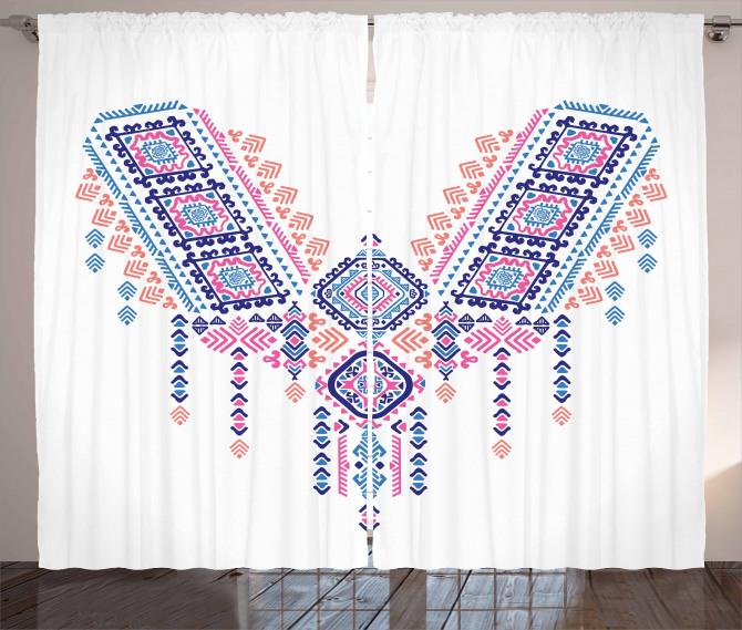 African Geometric Design Curtain