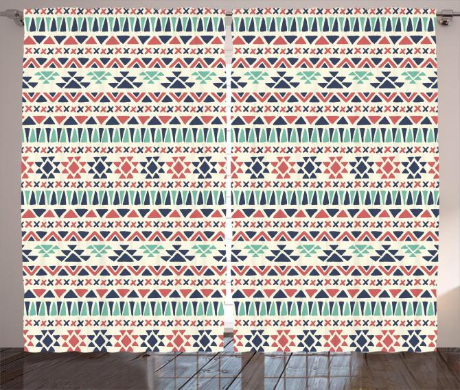 Native Ethnic Artwork Curtain