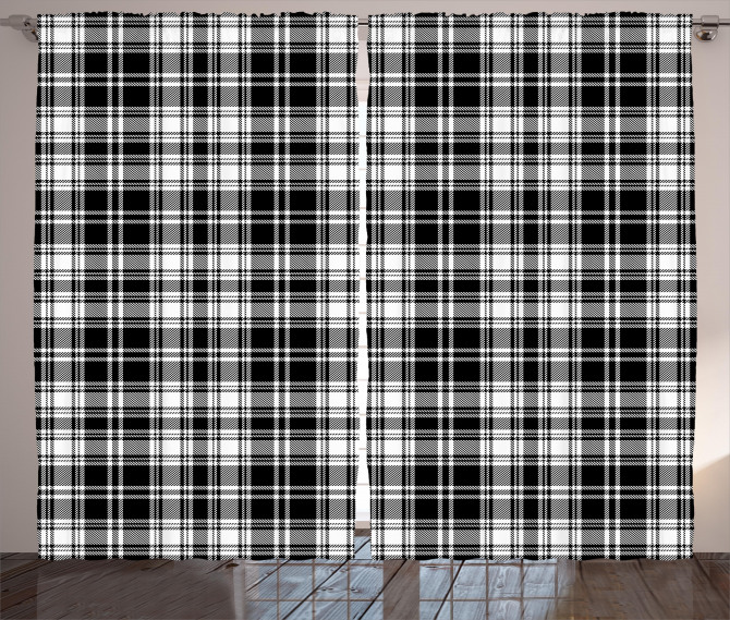 British Tartan Pattern Curtain
