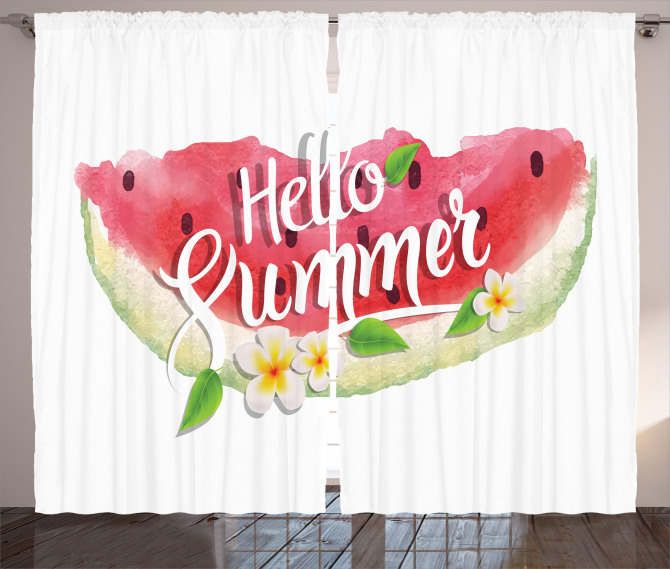 Summer Welcome Quote Curtain