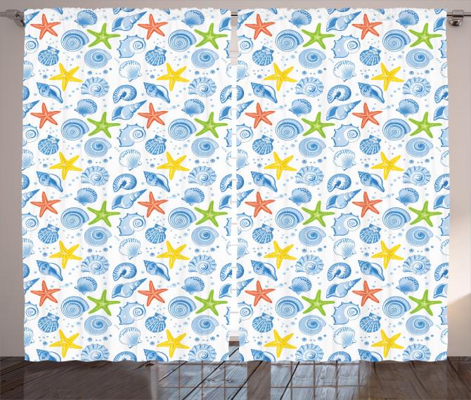 Marine Themed Starfish Curtain