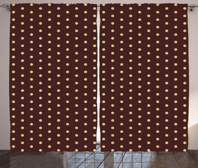 Old Fashion Retro Dots Curtain