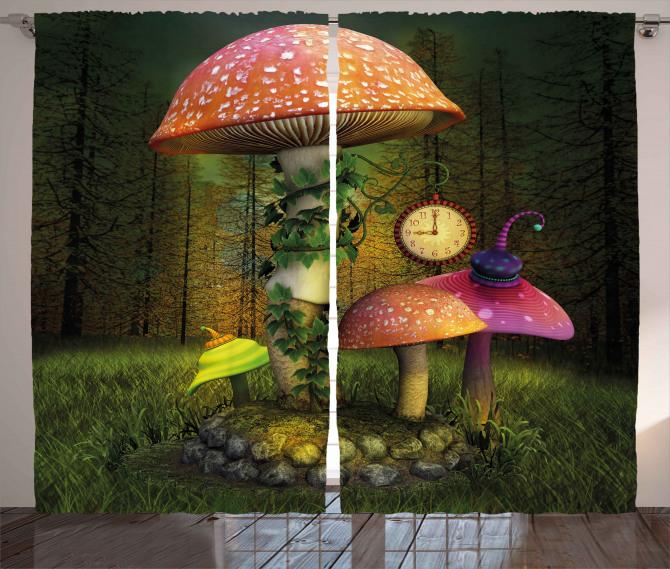 Giant Mushroom and Elve Curtain