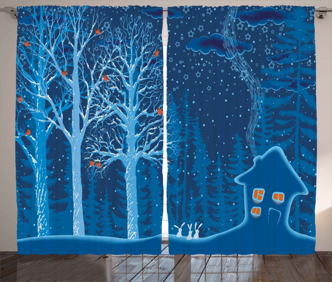 Winter Scenery with Show Curtain