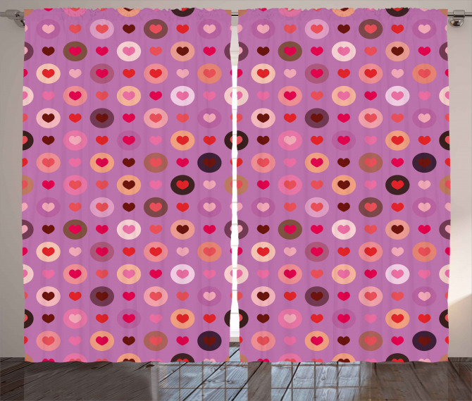 Valentine Romance Love Curtain