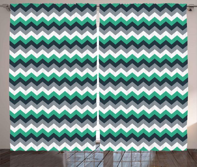 Symmetric Arrows Stripe Curtain