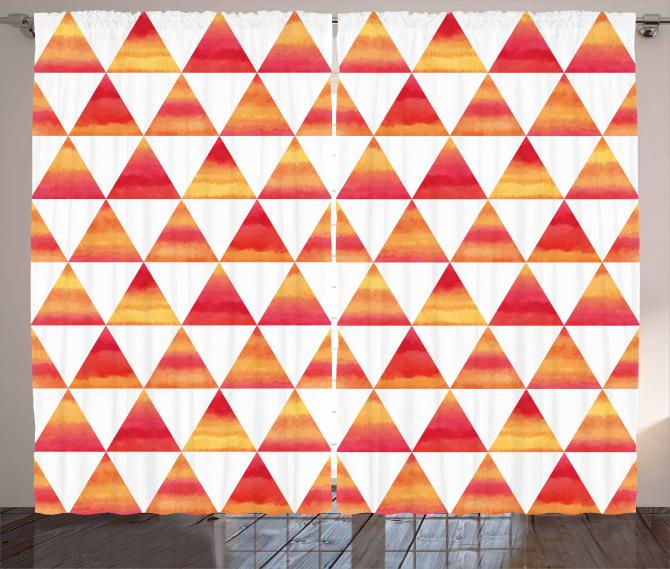 Triangle Geometric Art Curtain