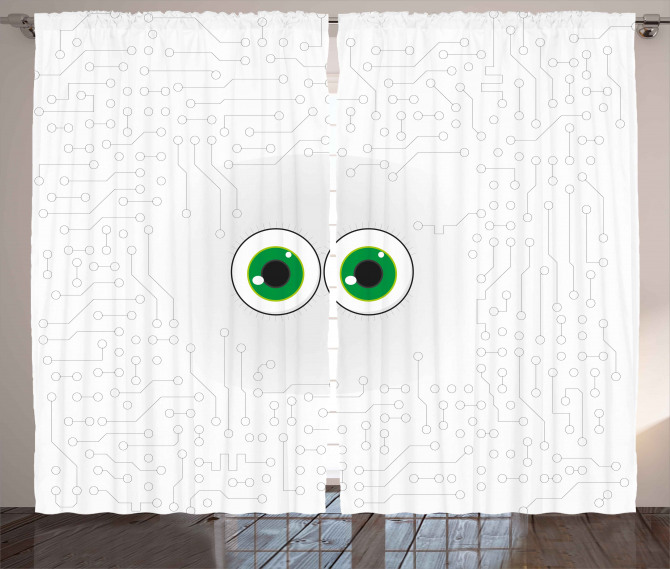 Eye Form Digital Picture Curtain