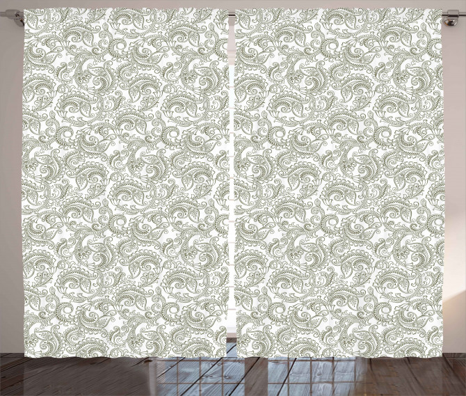 Damask with Ethnic Curtain