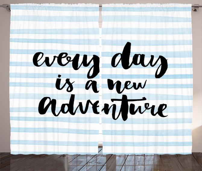 Adventure Text Curtain
