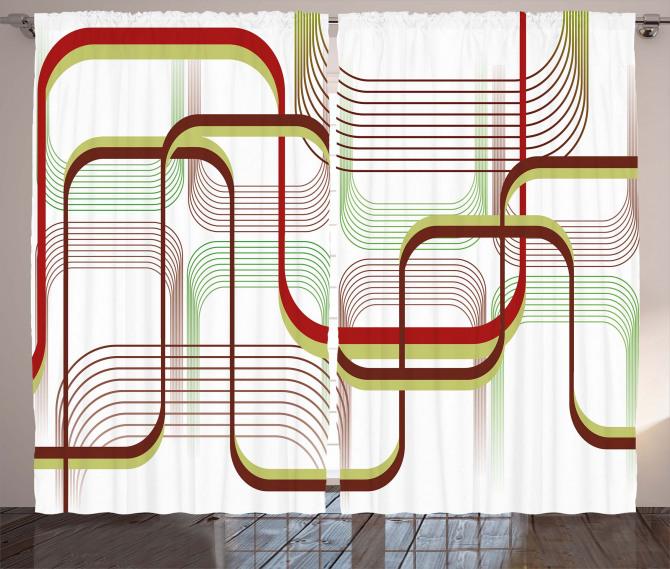 Wavy Abstract Shape Line Curtain