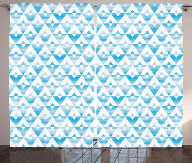 Geometric Shape Triangle Curtain