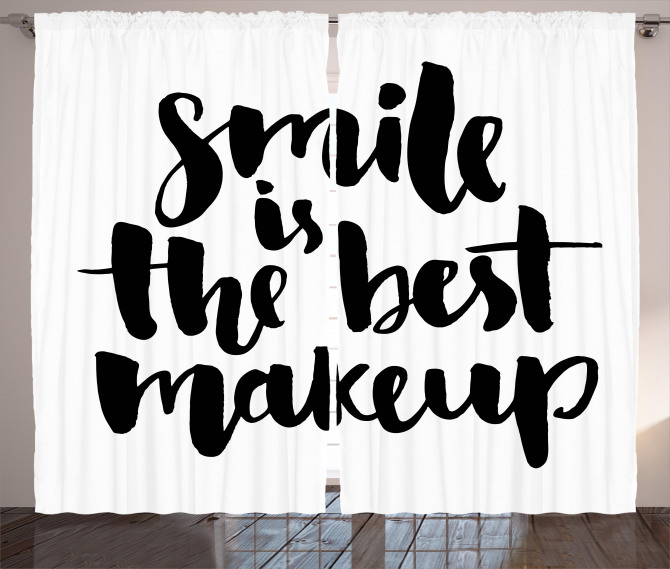 Smile Motivational Letter Curtain