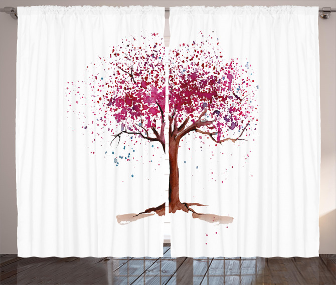 Blossom Buds Sakura Tree Curtain