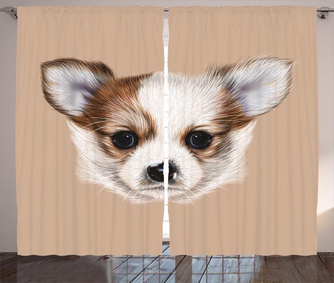 Cute Little Furry Friend Curtain
