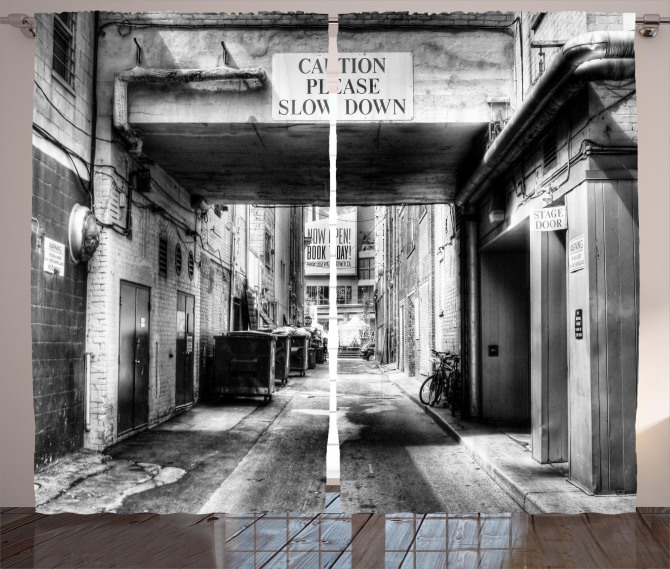 Old Fashion Urban District Curtain