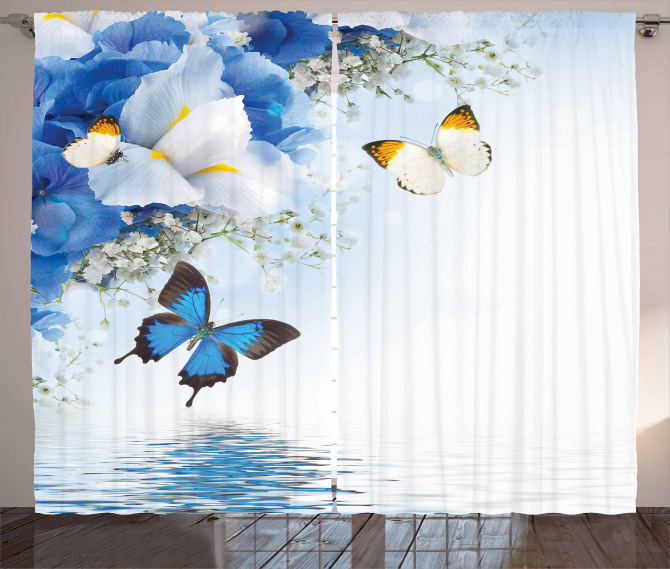 Exotic Flowers Pond Curtain