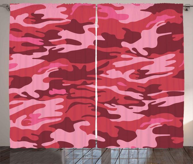 Camo Texture Autumn Theme Curtain