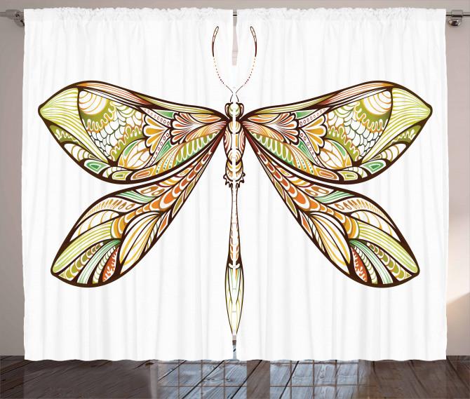 Colorful Bug Design Curtain