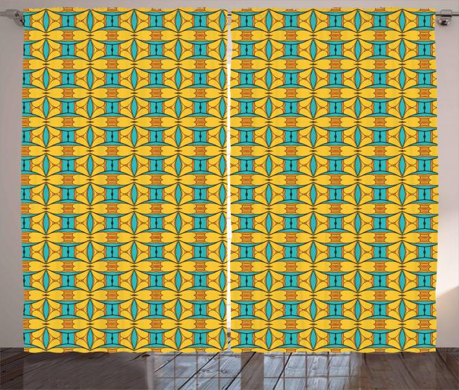 Kaleidoscopic and Ethnic Curtain
