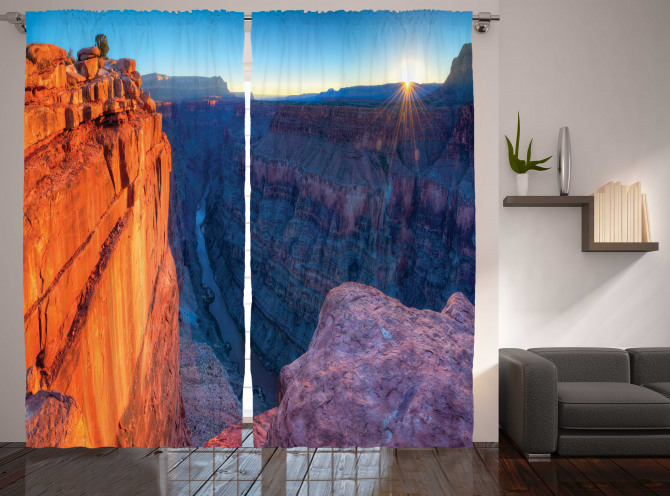 Büyük Kanyon'da Gün Doğumu Manzaralı Fon Perde