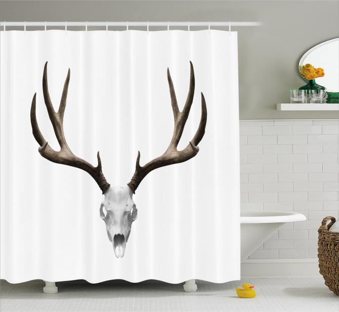 Deer Skull Skeleton Shower Curtain