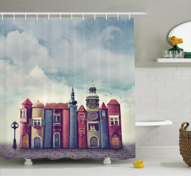 City Of Old Books Birds Shower Curtain