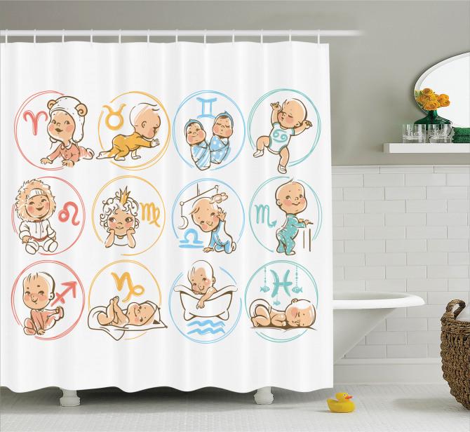 Burç Haritası Duş Perdesi Bebek Astroloji