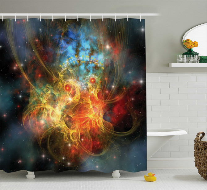 Outer Space Universe Shower Curtain