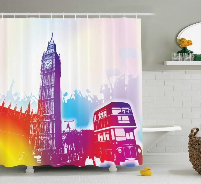 Historical Big Ben UK Shower Curtain