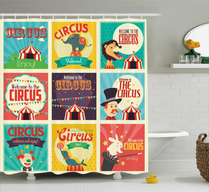 Carnival Old Circus Shower Curtain