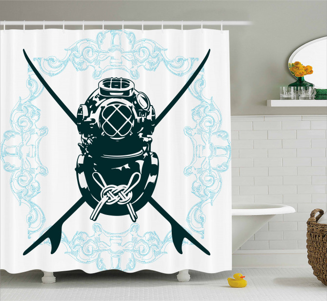 Odd Myst Surf Sign Shower Curtain