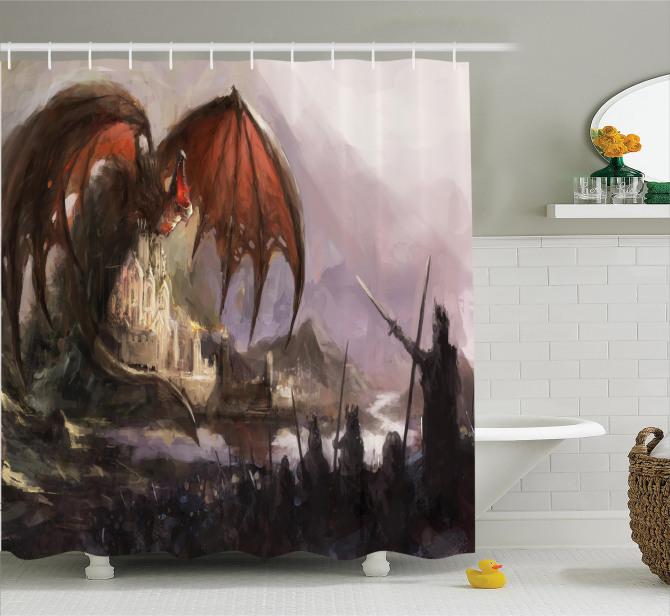 Suluboya Etkili Duş Perdesi Şövalye Ejderhaya Karşı