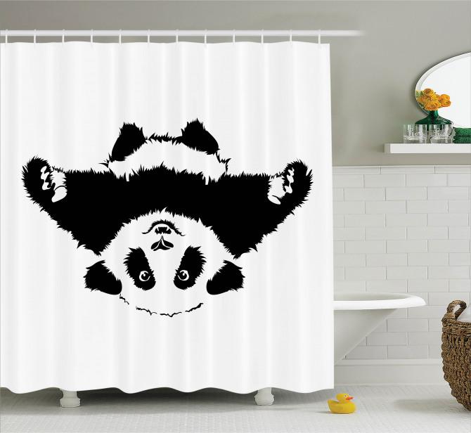 Çocuklar için Duş Perdesi Sevimli Panda Desenli