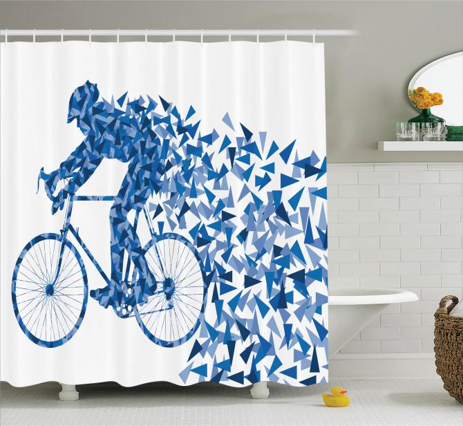 Çocuklar için Duş Perdesi Renkli Kelebekler Bisiklet