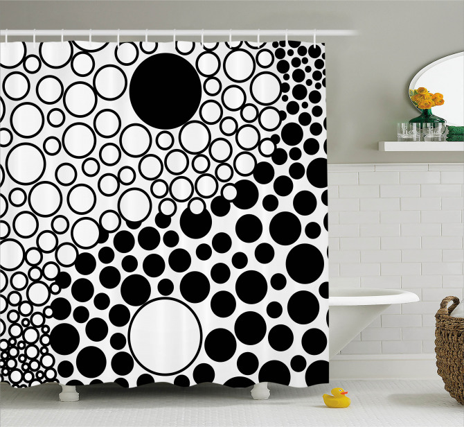 Abstract Retro Dots Shower Curtain